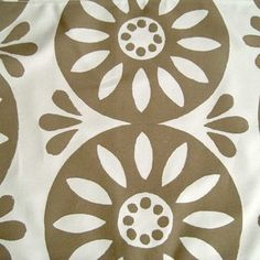 hand printed fabric pewter