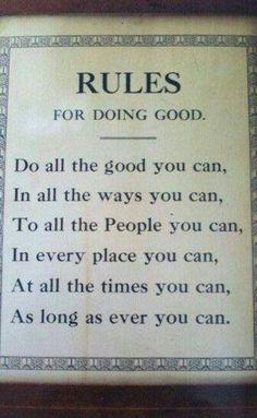 Do good:)