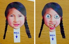 creepy face changer craft....sooooo doing this with Regan!