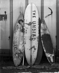 People Footwear - Black and White Photograph - Surfboards
