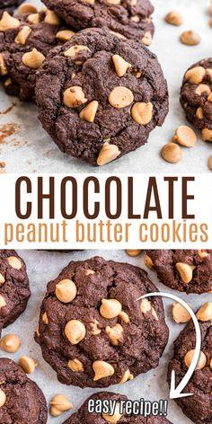 Peanut Butter Lasagna, Peanut Butter Chip Cookies, Sugar Cookies Recipe, Salted Caramel Chocolate, Best Chocolate Chip Cookie, Chocolate Cookies, Chocolate Desserts, Delicious Cookie Recipes, Best Cookie Recipes