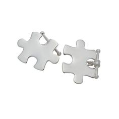 Custom made in sterling silver or solid yellow gold, just like real puzzle pieces that connect. Cuff links can be hand engraved with names dates or a meaningful message. Gifts For Father, Fathers, Tie Clips, Sterling Silver Cuff, Puzzle Pieces, Hand Engraving, Siblings, Cufflinks, Gold