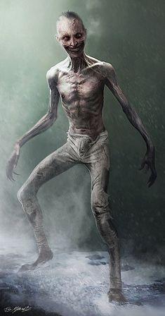 Jerad S Marantz: December 2013 Zombie Kunst, Arte Zombie, Zombie Art, Dark Creatures, Fantasy Creatures, Mythical Creatures, Monster Concept Art, Monster Art, Fantasy Kunst