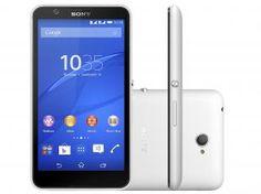 "Smartphone Sony Xperia E4 Dual Dual Chip 3G - Android 4.4 Câm. 5MP Tela 5"" Proc. Quad Core TV"