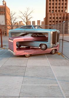 Auto Aerobics – Surreal nested cars by Chris LaBrooy