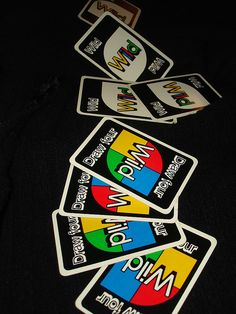 The original Uno card game