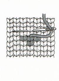 Mit dem Maschenstich kann man Muster, die sich aus mehreren einzelnen Maschen zusammensetzen, aufsticken, das ist leichter, als solche Motive einzustricken