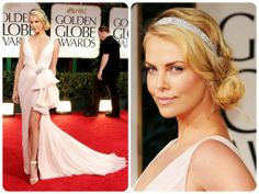 Charlize Theron wore this pale pink Dior Couture gown back in the 2012 Golden Globes.