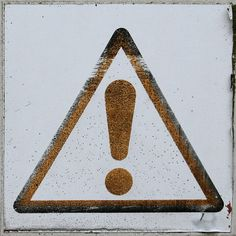 exclamation mark by Leo Reynolds, via Flickr