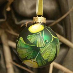 ginko ornament.  love!