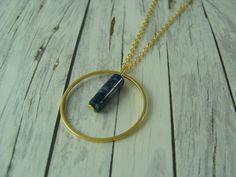 Ketten lang - Edle Kette Sodalith Ring blau gold vergoldet - ein Designerstück von buntezeiten bei DaWanda