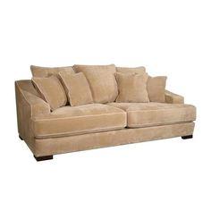 Nebraska Furniture Mart – Guildcraft Plush Brown Microfiber Sofa $859.99