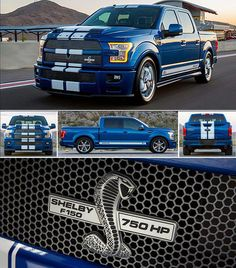Need a street legal muscle truck? If so, you should know that Shelby American is not only offering an performance Shelby Truck, Shelby F150, Shelby Gt 500, Ford Pickup Trucks, Gmc Trucks, Diesel Trucks, Cool Trucks, Ford Diesel, Ford Excursion