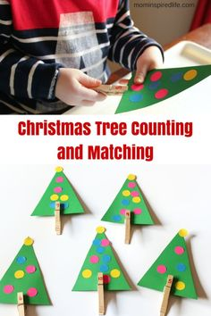 This Christmas tree counting activity is also a fantastic way to work on fine motor skills!