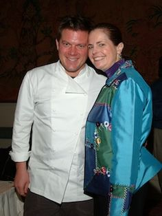 Lifestylist® Suzanne Felber with celebrity chef Tyler Florence at a previous Savor Dallas.