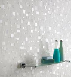 Stunning for the bathroom or a backsplash... Absolutely LOVE this unique concept! Simple and inexpensive!