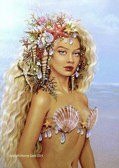 Mermaids Maxine Gadd published fantasy artist