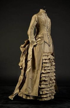 Day dress, 1880's From the collection of... - Fripperies and Fobs