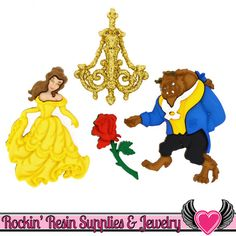 Jesse James Beauty and The Beast Disney Buttons Beauty And The Beast Dress, Disney Beauty And The Beast, Disney Buttons, Disney Princess Jasmine, Jesse James, Magic Carpet, Button Art, Disney Love, Disney Magic