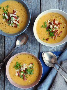 Blomkålsuppe med gulrøtter