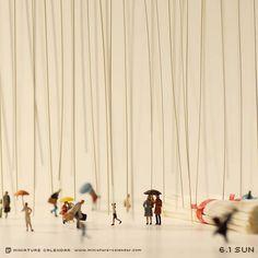 Un diorama miniature par jour avec des objets détournés calendrier diorama miniature 08