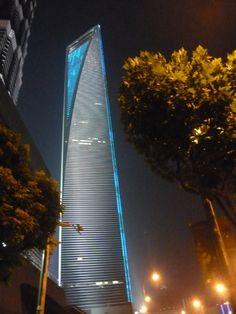 Shanghai World Financial Centre, Shanghai.    Designed by KPF.