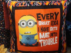 Hey, I found this really awesome Etsy listing at https://www.etsy.com/listing/252715659/minion-t-shirt-memory-pillows-using-your