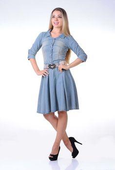 moda-evangelica-vestido-jeans-rodado-com-cinto