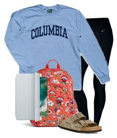 """""""Untitled #129"""" by lhnlila on Polyvore featuring NIKE, Columbia, Vera Bradley, Apple and Birkenstock"""