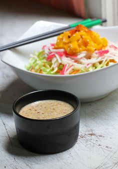 Japanese-Style Salad with Roasted Sesame Dressing I've always loved Kewpie's Sesame Dressing and according to this blogger, this recipe's even better!