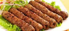 Easy To Make Minced Chicken Kebab/Chicken Keema Kabab Recipe Learn how to make absolutely delicious restaurant style Chicken Kabab from scratch using simple . Seekh Kebab Recipes, Chaat Recipe, Beef Seekh Kabab Recipe, Tikka Recipe, Masala Recipe, Recipe Ideas, Veg Recipes, Spicy Recipes, Lebanese Recipes