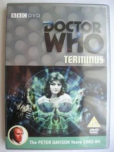 """""""Terminus"""" is an adventure of the twentienth season of """"Doctor Who"""" classic series, the second of the mini-arc known by the global title """"The Black Guardian Trilogy"""", which aired in 1983 featuring the Fifth Doctor, Tegan, Nyssa and Turlough. It follows """"Mawdryn Undead"""" and it's a four parts adventure written by Stephen Gallagher and directed by Mary Ridge. Image from the British edition of the DVD. Click to read a review of this adventure!"""