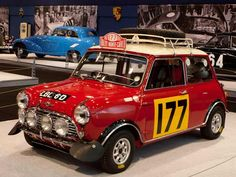 The classic Mini Cooper celebrating 100 years of the Monte Carlo Rally