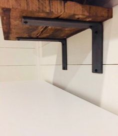 New kitchen shelves styling shelf brackets Ideas Industrial Shelving, Rustic Shelves, Metal Shelves, Industrial Style, Kitchen Industrial, Steel Shelf Brackets, Shelf Brackets Farmhouse, Decorative Shelf Brackets, Commercial Shelving