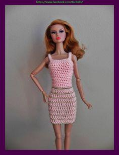 Vestido para muñecas Fashion Royalty / Poppy Parker / Tonner Tiny Kitty / Barbie de Fordollsboutique en Etsy