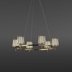 Julia suspension, design Daniel Becker, shades metal and glass