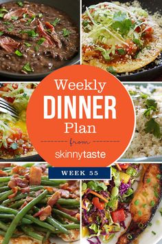 Skinnytaste Dinner Plan (Week 55) | Skinnytaste