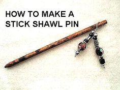Carlitto Patterns: CROCHET TIPS, MAKE A SHAWL PIN, OR A HAIR STICK
