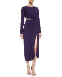 Cool Jersey Twisted Cutout Dress by Donna Karan at Neiman Marcus.