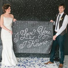 What groom (or even bride!) doesn't love Star Wars, right? Check out this modern take on the films!