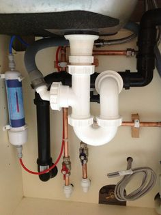 30) Add plumbing and water filter