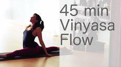 mins) Hatha Yoga Flow Free Vinyasa Yoga class with Lesley Fightmaster.***ME: you definitely get some work in in a 45 minutes vinyasa flow practice. Lesley has some nice variations to add to help it not be redundant. Ashtanga Yoga, Vinyasa Yoga, Poses Hatha Yoga, Yoga Moves, Yoga Sequences, Yoga Exercises, Iyengar Yoga, Pilates Yoga, Pilates Reformer