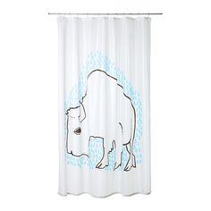TYDINGEN Duschvorhang IKEA Dichtes Polyestergewebe mit Wasser abweisender Oberschicht.