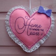 Home Is Where The Heart Is Hanging by ForeverYoursHandmade on Etsy