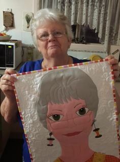 I'm so happy to introduce two new ladies to you today. Numbers 78 and and her beautiful mother, Karyn. Applique Patterns, Sewing Patterns, Book Quilt, Quilt Art, Making Faces, Landscape Quilts, Girls Quilts, Blanket Stitch, Fabric Art