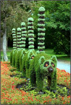 Montreal botanic gardens topiary, Canada