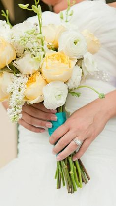 'A Touch of Tiffany' Wedding bouquet ... Wedding ideas for brides, grooms, parents & planners ... https://itunes.apple.com/us/app/the-gold-wedding-planner/id498112599?ls=1=8 ...The Gold Wedding Planner iPhone App.