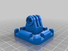 3D Printed Zip Tie Mount GoPro accessory
