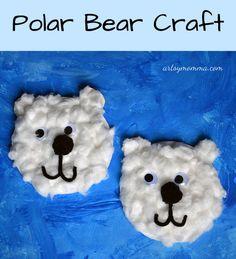 Paper Plate Polar Bear Craft - International Polar Bear Day