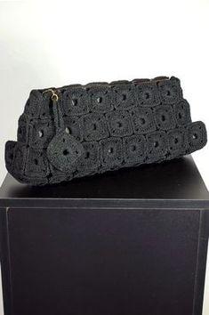 Crochet Clutch Bags, Crochet Handbags, Crochet Purses, Crochet Bags, Handmade Handbags, Handmade Bags, Diy Purse, Clutch Purse, Crochet Classes